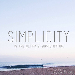 Beach scene with Simplicity overlaid