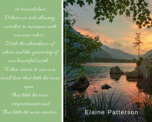landscape photo with Elaine Patterson quotation