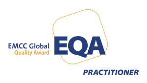 EMCC Global Quality Award logo practioner